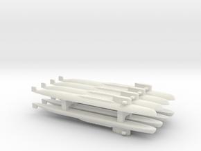 Yankee I - Class SSBN x 8, 1/2400 in White Natural Versatile Plastic