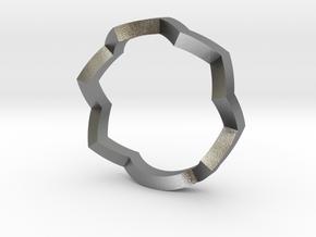 zig zag ring in Natural Silver