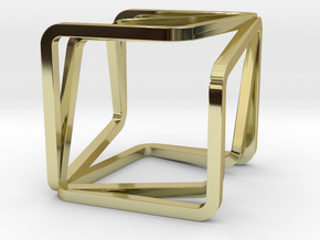 YOUNIVERSAL CUBE, Pendant in 18k Gold Plated