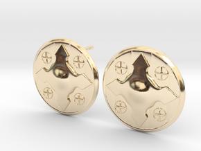 Wotan Cross Earring in 14k Gold Plated Brass