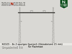 8x Querjoch (Oberleitung Epoche I - N 1:160) in Frosted Ultra Detail