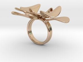 Petals ring - 20 mm in 14k Rose Gold Plated Brass