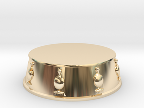 Chess Bishop Base - 1 inch in 14k Gold Plated Brass