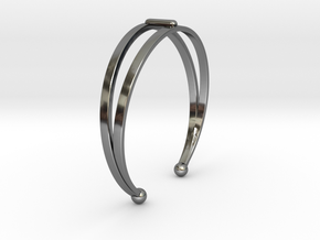Ø53 Mm Bracelet Elegance Ø2.086 inch XS in Fine Detail Polished Silver