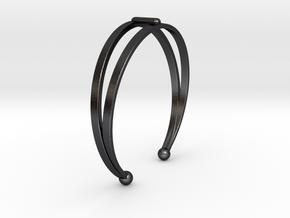 Ø53 Mm Bracelet Elegance Ø2.086 inch XS in Polished and Bronzed Black Steel