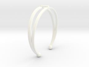 Ø53 Mm Bracelet Elegance Ø2.086 inch XS in White Processed Versatile Plastic