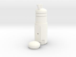 Sci Fi Belt Cylinder in White Processed Versatile Plastic