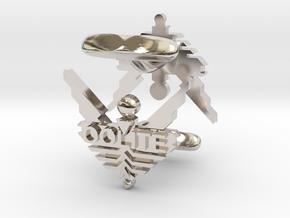 Oolite Cufflinks in Platinum