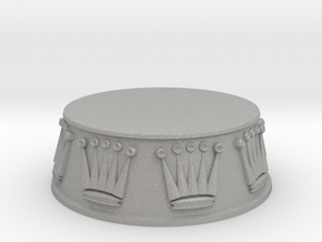 Chess Queen Base - 1 inch in Aluminum