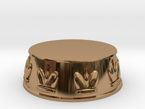 Chess King Base - 1 inch in Polished Brass