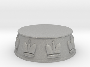 Chess King Base - 1 inch in Aluminum