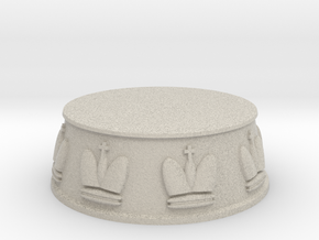 Chess King Base - 1 inch in Natural Sandstone