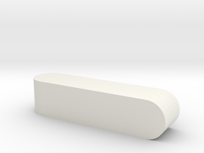 Blank d4 Sphericon Stick Die in White Natural Versatile Plastic