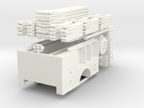 1/87 FDNY(ish) Satellite-Hose Wagon Body in White Processed Versatile Plastic