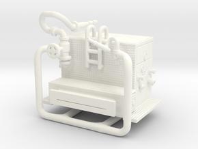 1/87 FDNY(ish) Satellite-Hose Wagon Pump in White Processed Versatile Plastic
