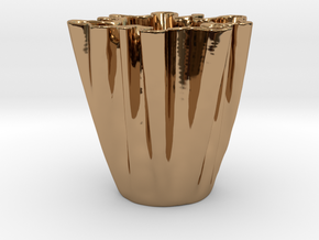 Cloth Cup in Polished Brass