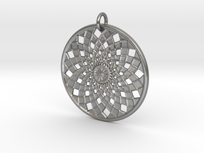 Flower Mandala No 2 in Raw Silver