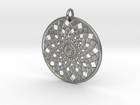 Flower Mandala No 2 in Raw Silver