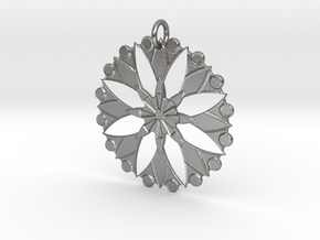 Flower Mandala No. 3 in Raw Silver