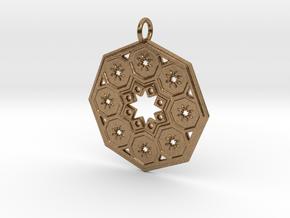Octagon Star Mandala in Natural Brass