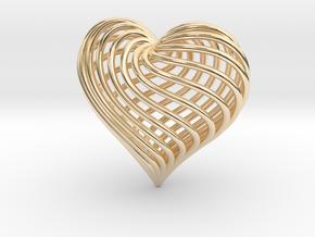 Twirling Heart Pendant in 14K Yellow Gold