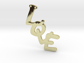 Pendent- Love in 18k Gold Plated Brass