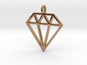 Pendant 'Diamond' in Polished Brass