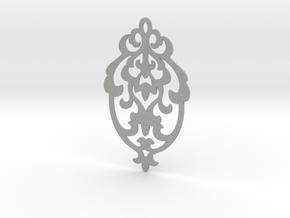 BlakOpal Victorian Damask Earring in Aluminum