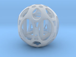 Sphere housing a cube in Smooth Fine Detail Plastic