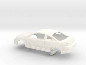 1/25 Scale Cobalt SS Detached Hood Scoop in White Strong & Flexible Polished