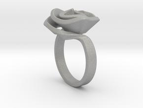 Rose ring in Aluminum