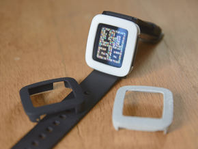 Pebble Time Bumper cover in White Strong & Flexible Polished