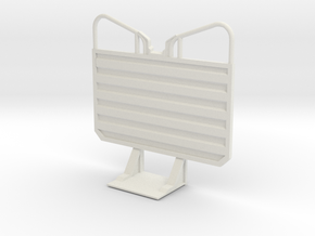 1/25 Waffle pattern cab guard headache rack, plain in White Strong & Flexible