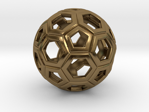Soccer Ball 1 Inch in Polished Bronze