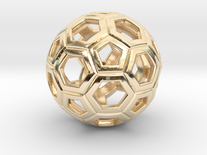 Soccer Ball 1 Inch in 14k Gold Plated Brass