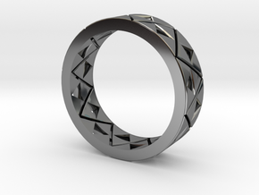 Triforce Ring Size 8 in Fine Detail Polished Silver
