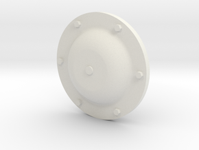 IS / ISU supporting roll  hubcap 1/16 in White Strong & Flexible