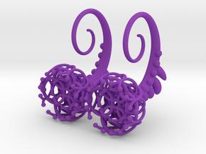 Plugs / gauges/ The jellyfish Plug 10g (2,5 mm) in Purple Processed Versatile Plastic