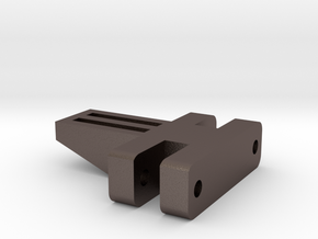 E-100 Track part 3 (small spacer)  1/16 in Polished Bronzed Silver Steel