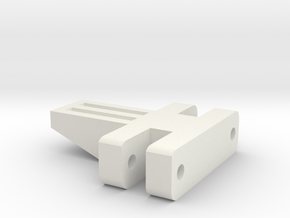 E-100 Track part 3 (small spacer)  1/16 in White Natural Versatile Plastic