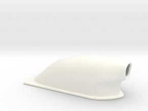 1/43 Large Pro Mod Hood Scoop in White Strong & Flexible Polished