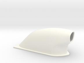 1/18 Small Pro Mod Hood Scoop in White Processed Versatile Plastic