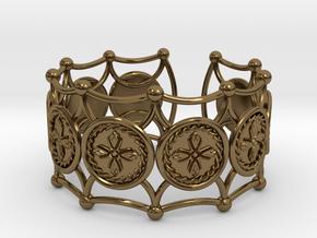 Crux Bracelet in Polished Bronze