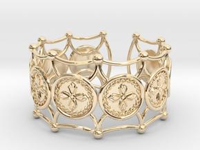 Crux Bracelet in 14k Gold Plated Brass