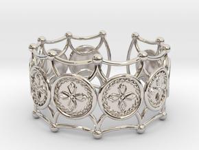 Crux Bracelet in Rhodium Plated Brass