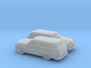 1/160 2X  1949 Ford Fordor Station Wagon in Smooth Fine Detail Plastic