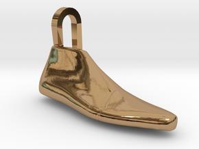 Pendant Shoe Last in Polished Brass