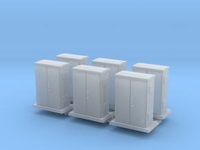 Padmount  Electrical Box 01. HO Scale (1:87) in Smooth Fine Detail Plastic