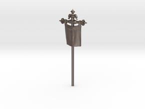 28mm/32mm Custom Banner_B in Polished Bronzed Silver Steel