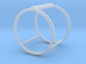 Model Double Ring B in Smooth Fine Detail Plastic